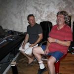 Francesco et Laurent en pleine séance…de travail